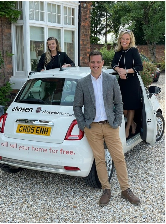 sell property sutton coldfield picture of chosen agents with the chosen branded car